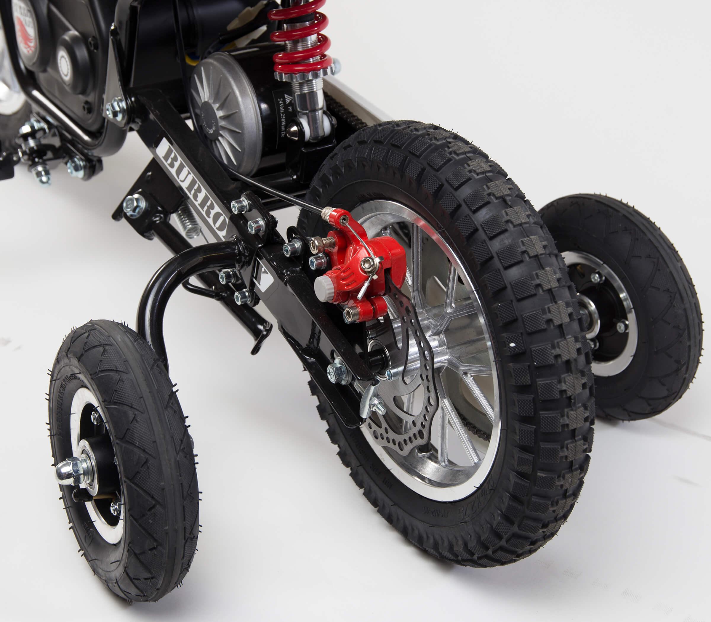 Training Wheels Accessory Kit for TT series Burromax Mini bike Models (Part #19705)