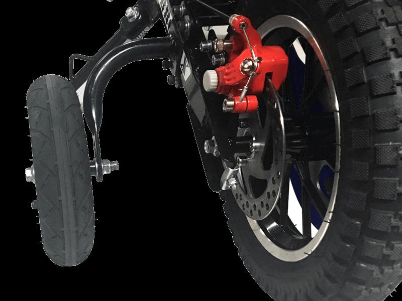 Training Wheels Accessory Kit for TT series Burromax Mini bike Models - 2
