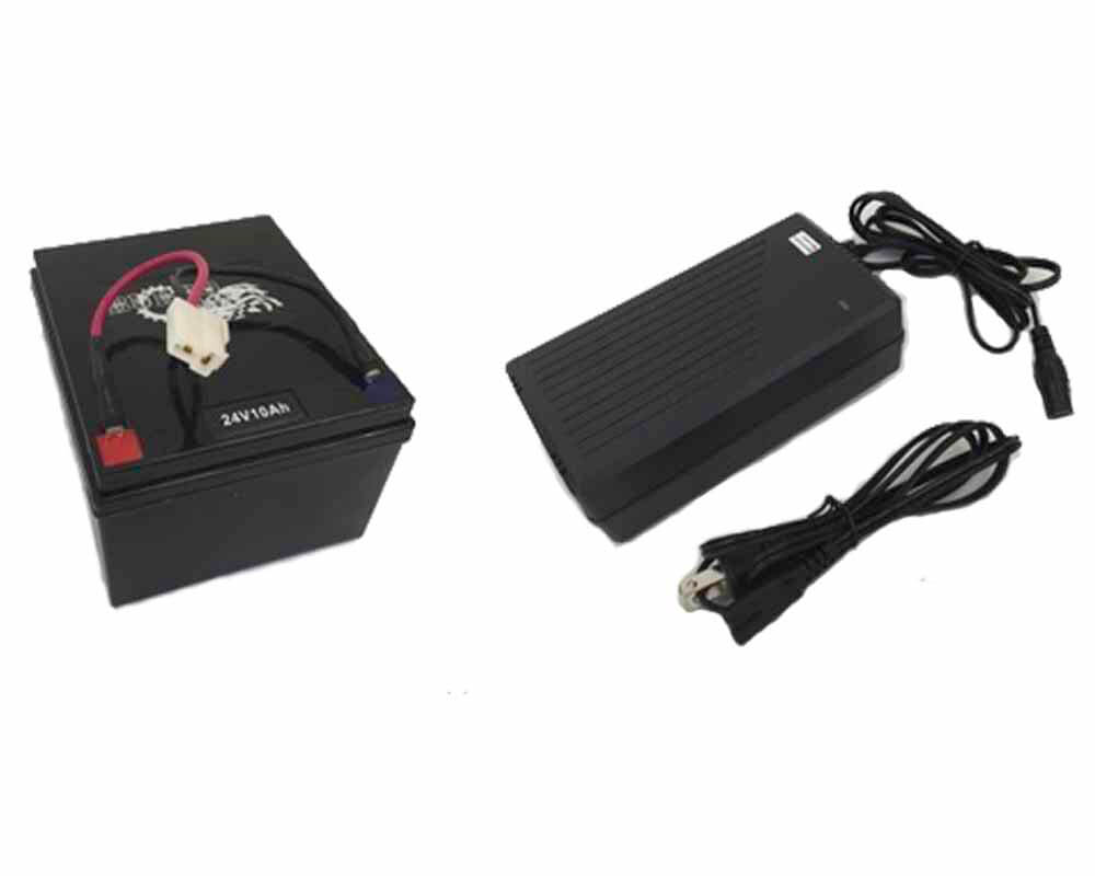 Lithium Ion NCM 24v Battery Upgrade Kit with Charger