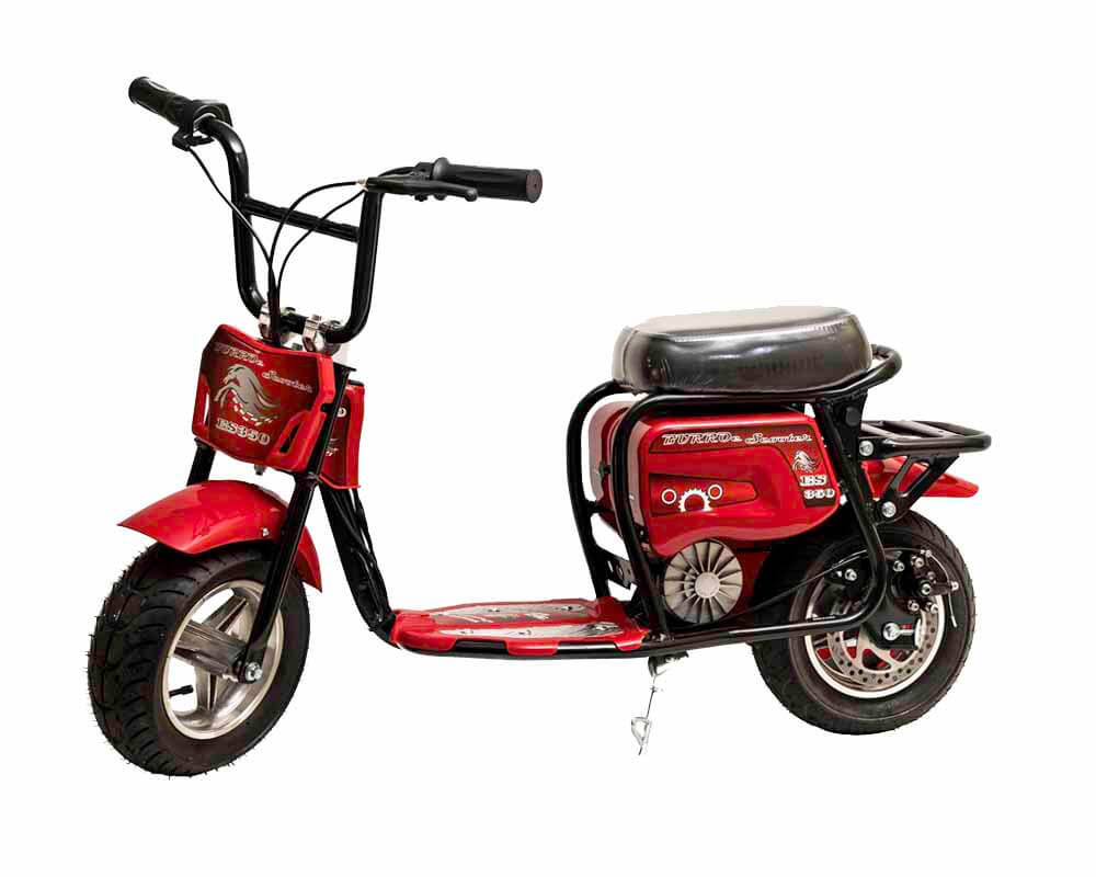 Electric Minibike, ES350 (Color: Red)