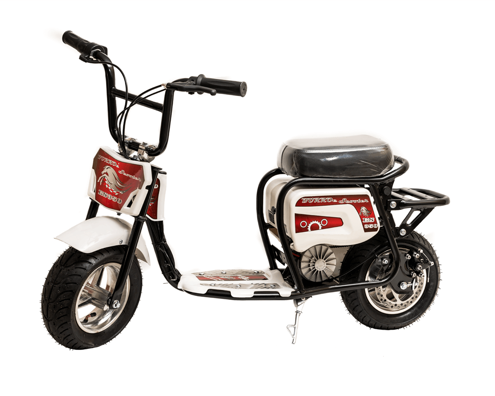 Electric Minibike, ES350 (Color: White)