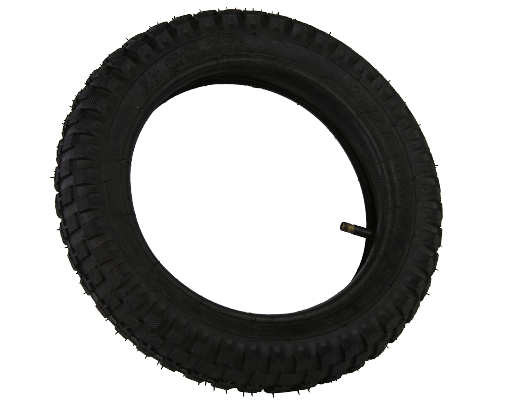 Knobbie Tire with Inner Tube, F/R 12.5X2.75 (Part #10041)