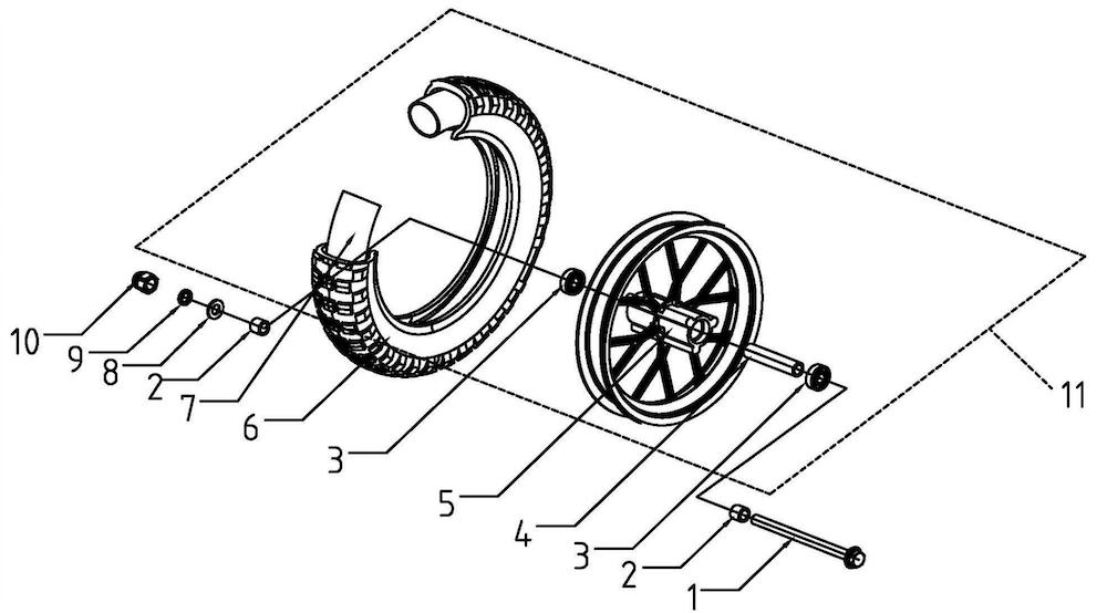 Electric Mini Bike Front Wheel