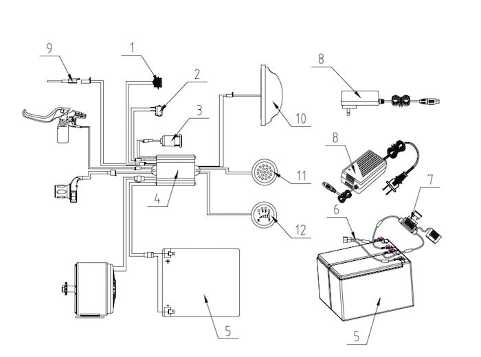 electric mini bike battery  u0026 electrical
