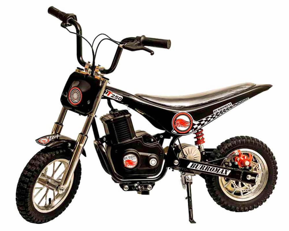 Electric Mini bike, TT250 (Color: Black) - 1