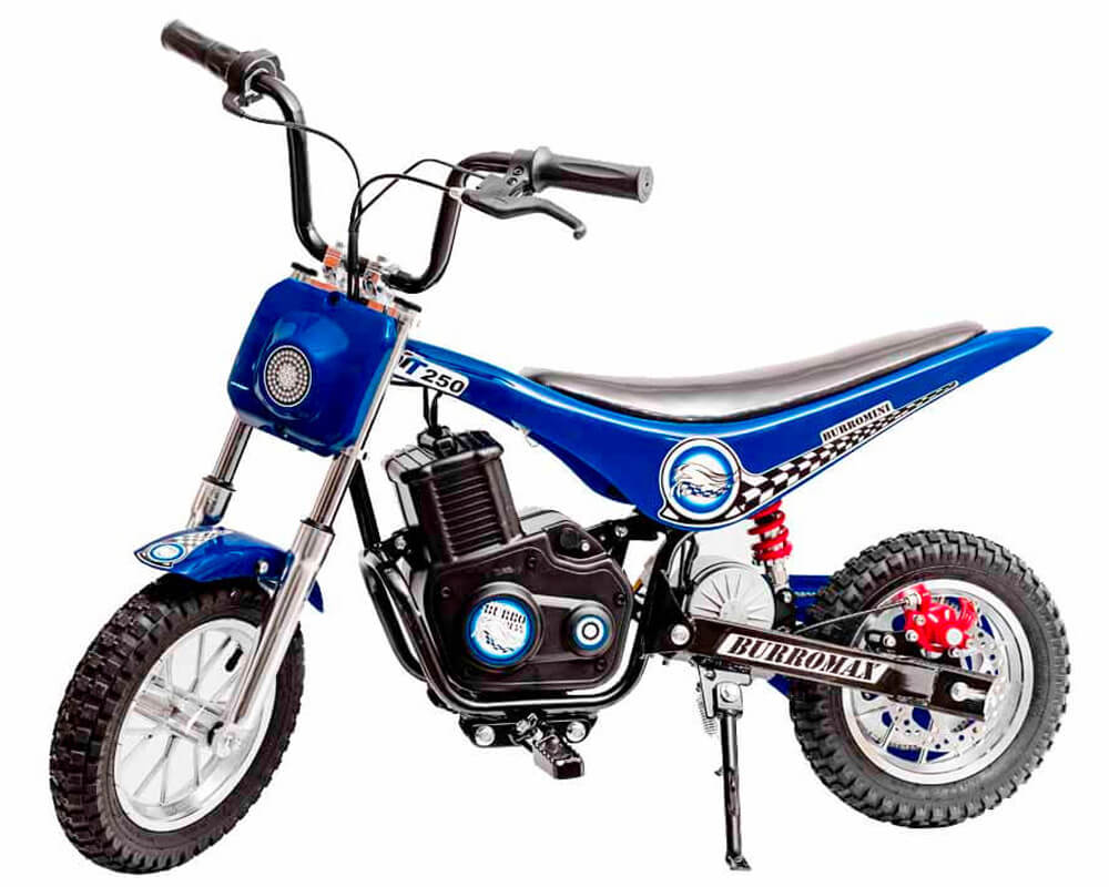 Electric Minibike, TT250 (Color: Blue)