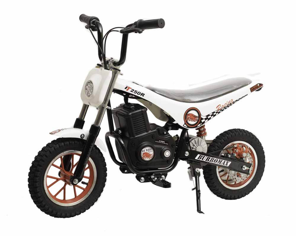 Burromax Electric Mini bike TT250R Lithium Ion Powered White