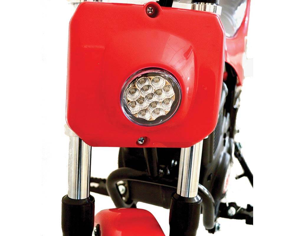 Electric Mini bike, TT350R Lithium Ion Powered, (Color: Green Carbon Fiber)  - 2