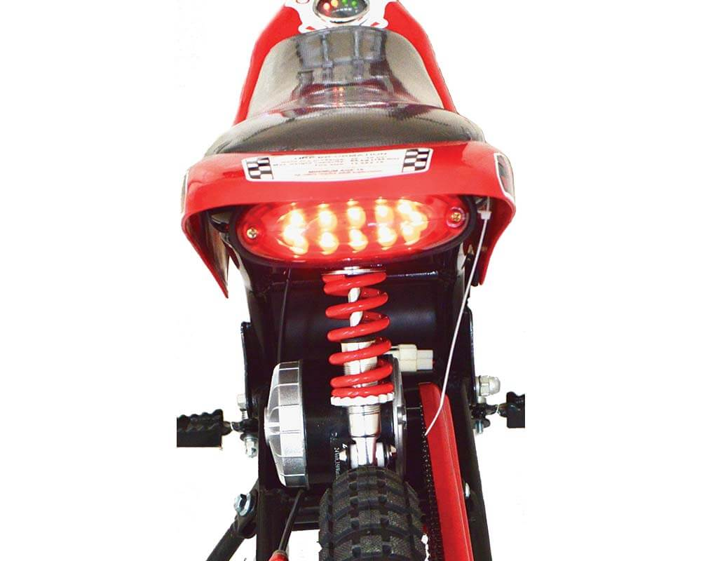 Electric Mini bike, TT350R Lithium Ion Powered, (Color: Red Carbon Fiber) - 3