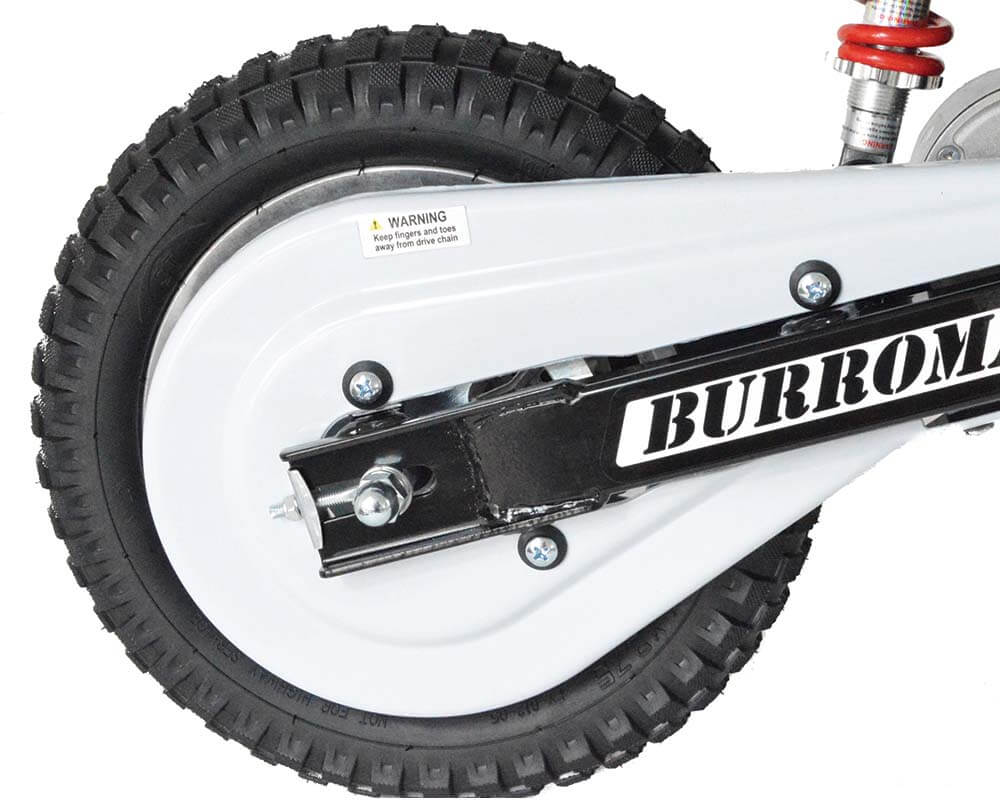 Electric Mini bike, TT350R Lithium Ion Powered, (Color: White) - 7
