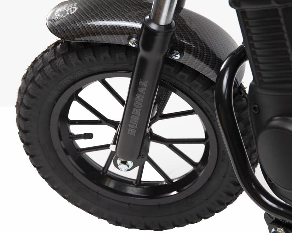 Electric Mini bike, TT350R Lithium Ion Powered, (Color: Matte Black Carbon Fiber) - 8