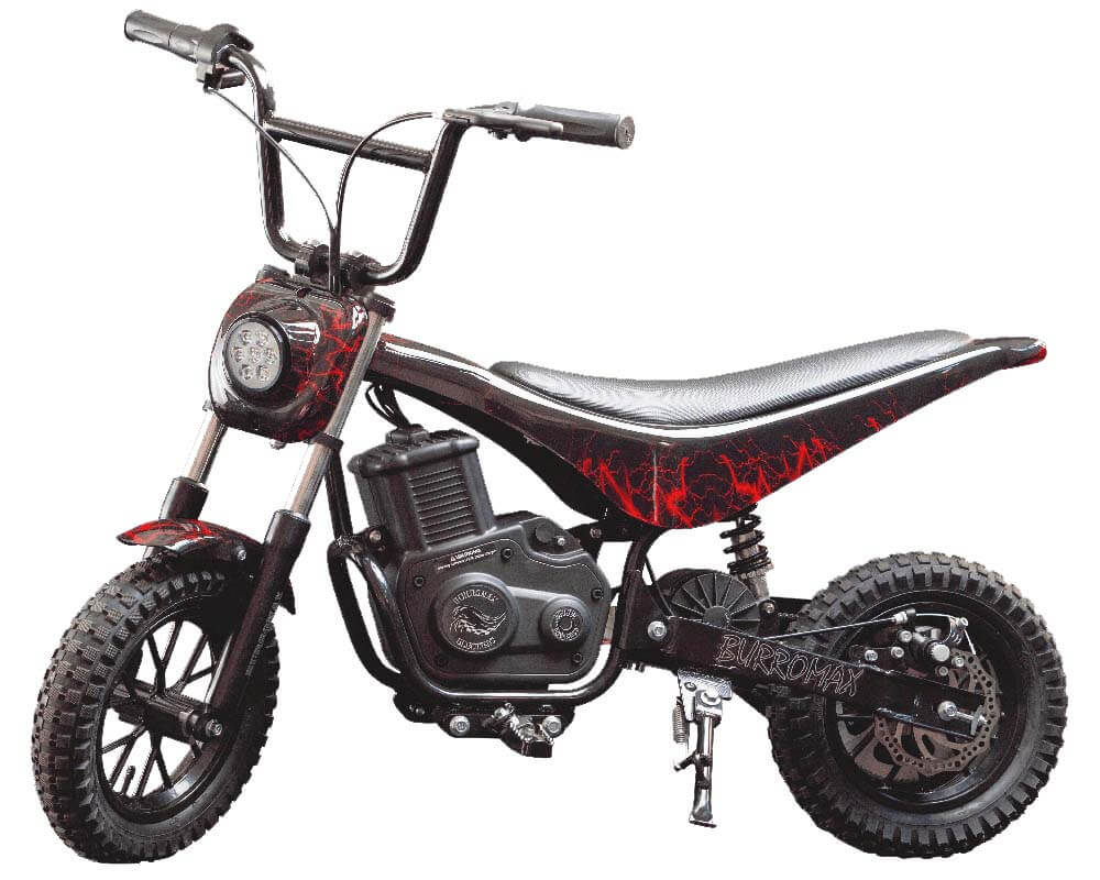 Electric Mini bike, TT350R Lithium Ion Powered, (Color: Red Lightening)
