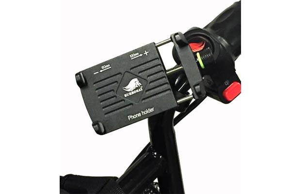 Phone Holder, Billet Aluminum w/handle bar mount-360 degree swivel  (Part #16002) - 1