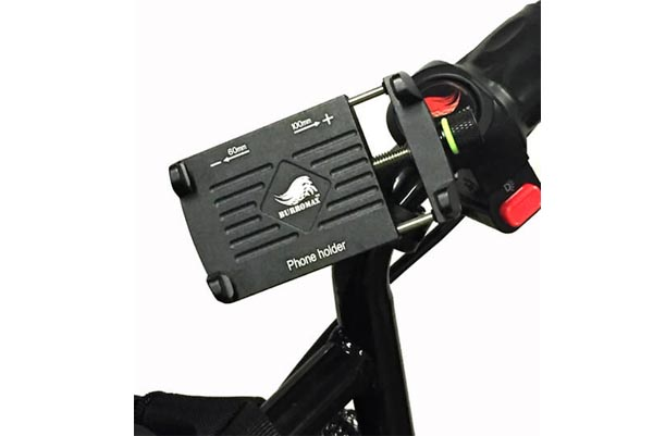 Phone Holder, Billet Aluminum w/handle bar mount-360 degree swivel  (Part #16002)