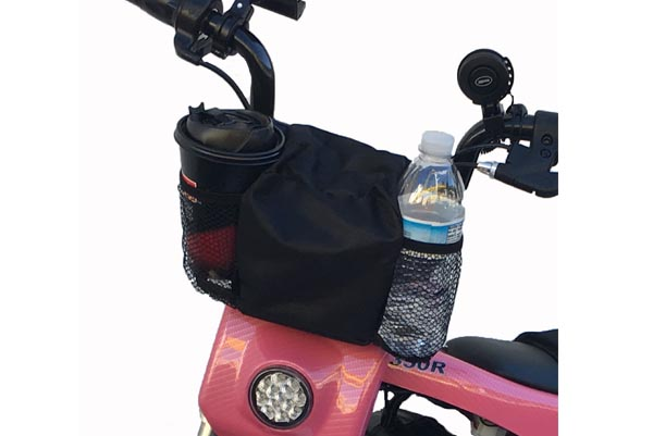 Handlebar Bag, 2 Cup holder, Black  (Part #16030)