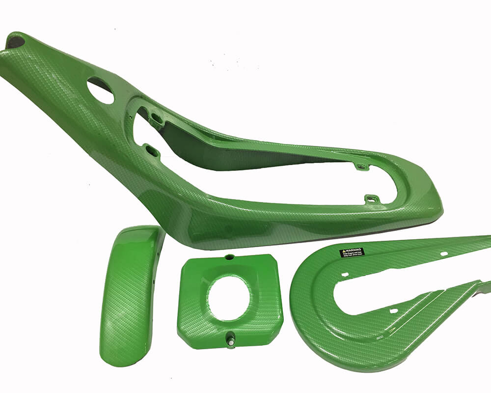 Plastic Set, Hydro Dip, TT350R (Color: Green Carbon Std) - 1