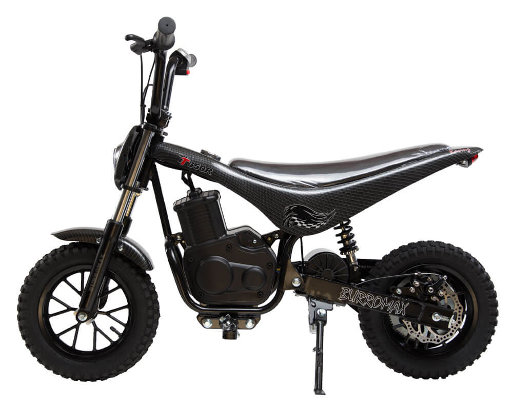 Electric Minibike, TT350R Lithium Ion Powered, (Color: Black Carbon Fiber)
