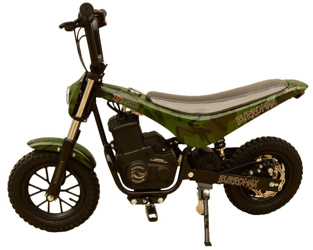 Electric Minibike, TT350R Lithium Ion Powered, (Color: Camo)