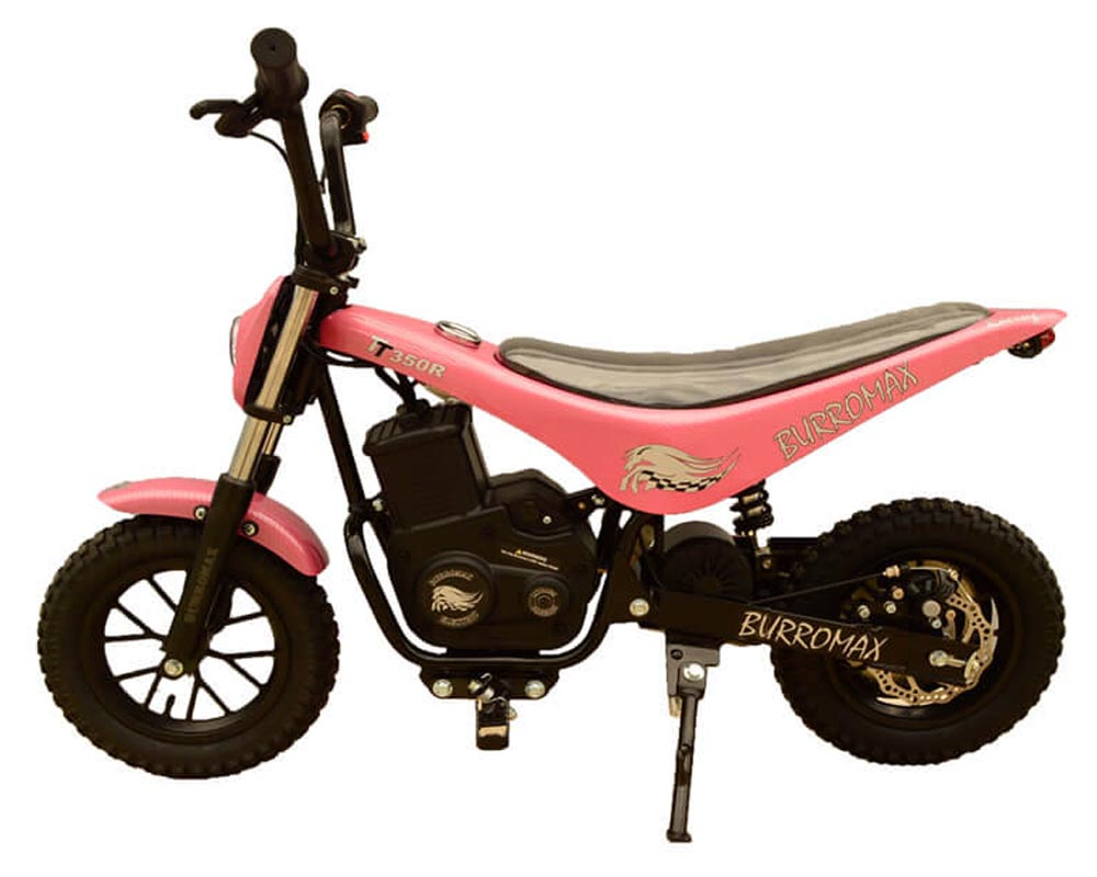 Electric Minibike, TT350R Lithium Ion Powered, (Color: Pink Carbon Fiber)