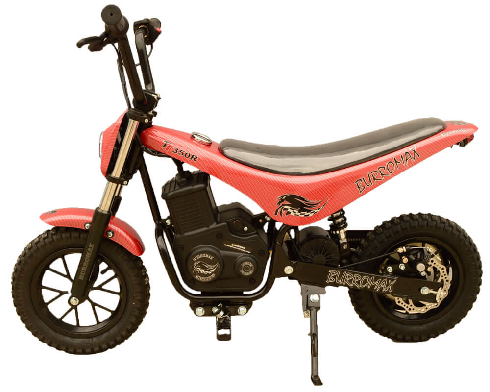 Electric Mini bike, TT350R Lithium Ion Powered, (Color: Red Carbon Fiber)