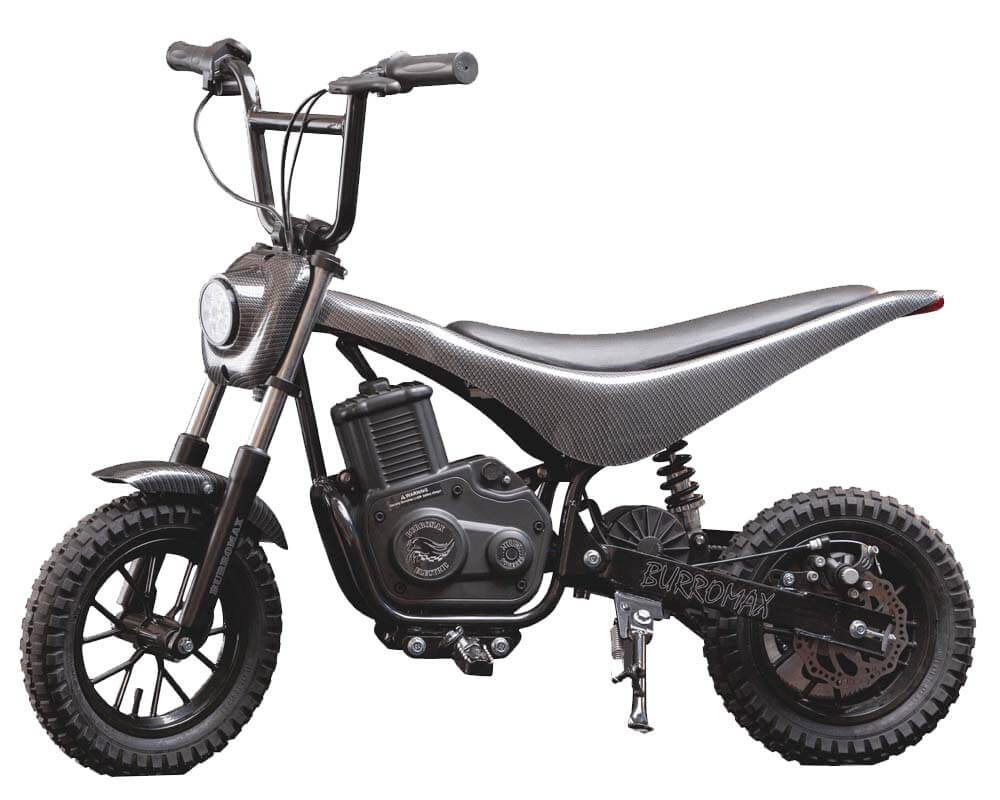 Electric Mini bike, TT350R Lithium Ion Powered, (Color: Black Carbon Fiber)