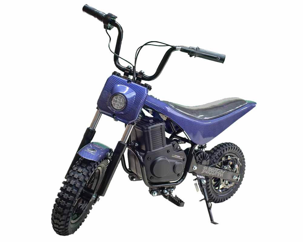 Electric Minibike, TT350R Lithium Ion Powered, (Color: Blue Carbon Fiber) - 1