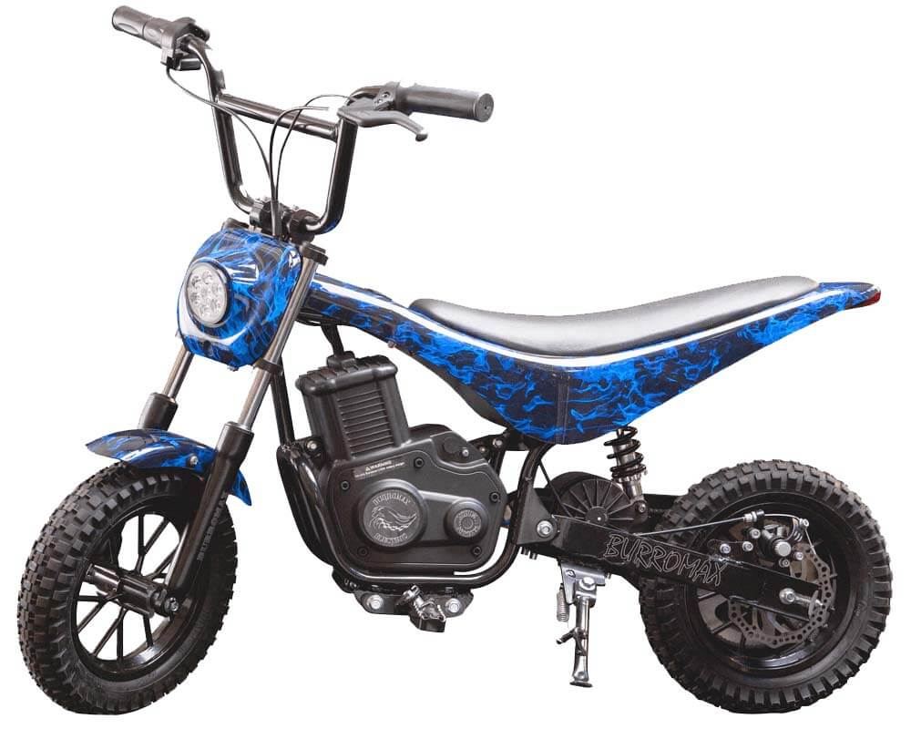 Electric Mini bike, TT350R Lithium Ion Powered, (Color: Blue Flames)