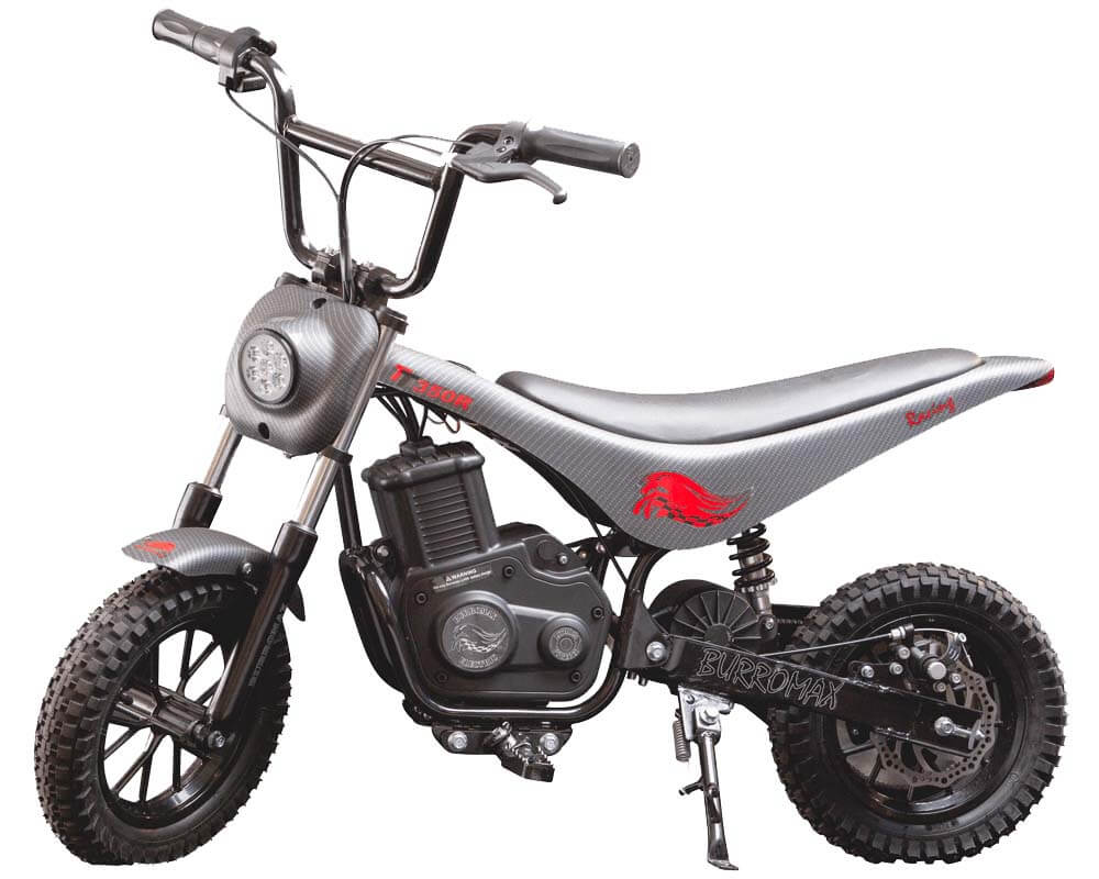 Electric Mini bike, TT350R Lithium Ion Powered, (Color: Matte Black Carbon Fiber) - 1