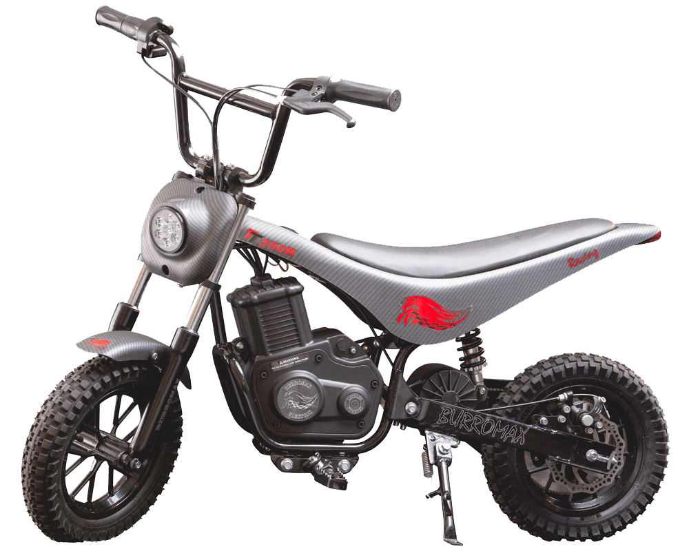 Electric Minibike, TT350R Lithium Ion Powered, (Color: Matte Black Carbon Fiber) - 1