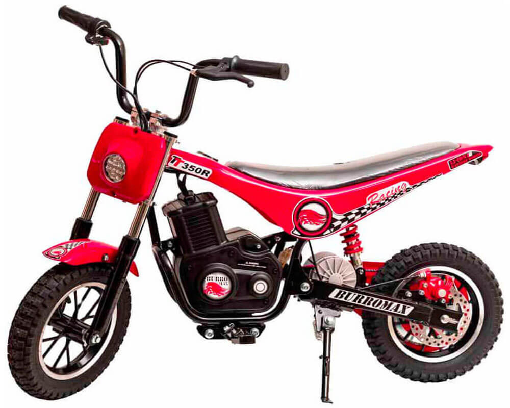 Electric Minibike, TT350R Lithium Ion Powered, (Color: Red)