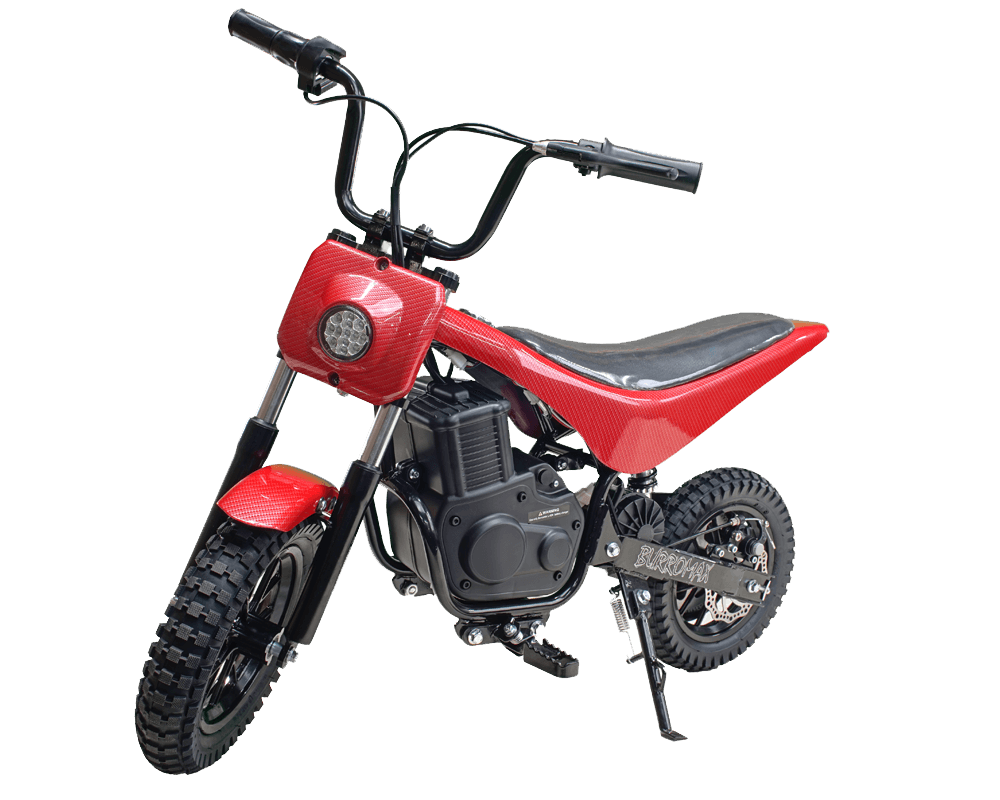 Electric Minibike, TT350R Lithium Ion Powered, (Color: Red Carbon Fiber)