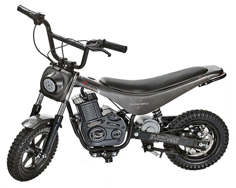 Electric Mini bike, TT750R Lithium Ion Powered, (Color: Black Carbon Fiber)