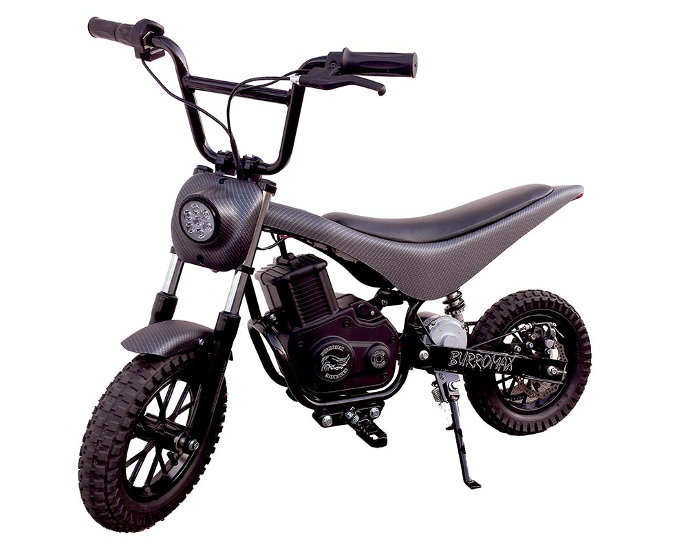 Electric Minibike, TT750R Lithium Ion Powered, (Color: Matte Black Carbon Fiber)