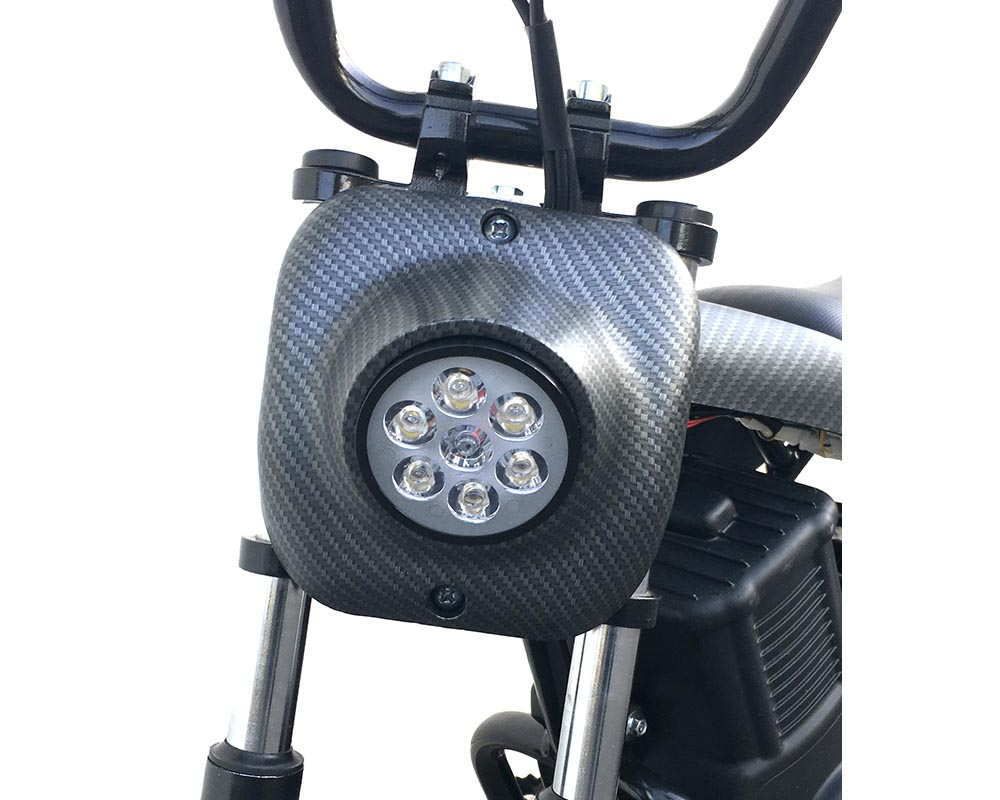 Electric Mini bike, TT750R Lithium Ion Powered, (Color: White Carbon Fiber) - 2